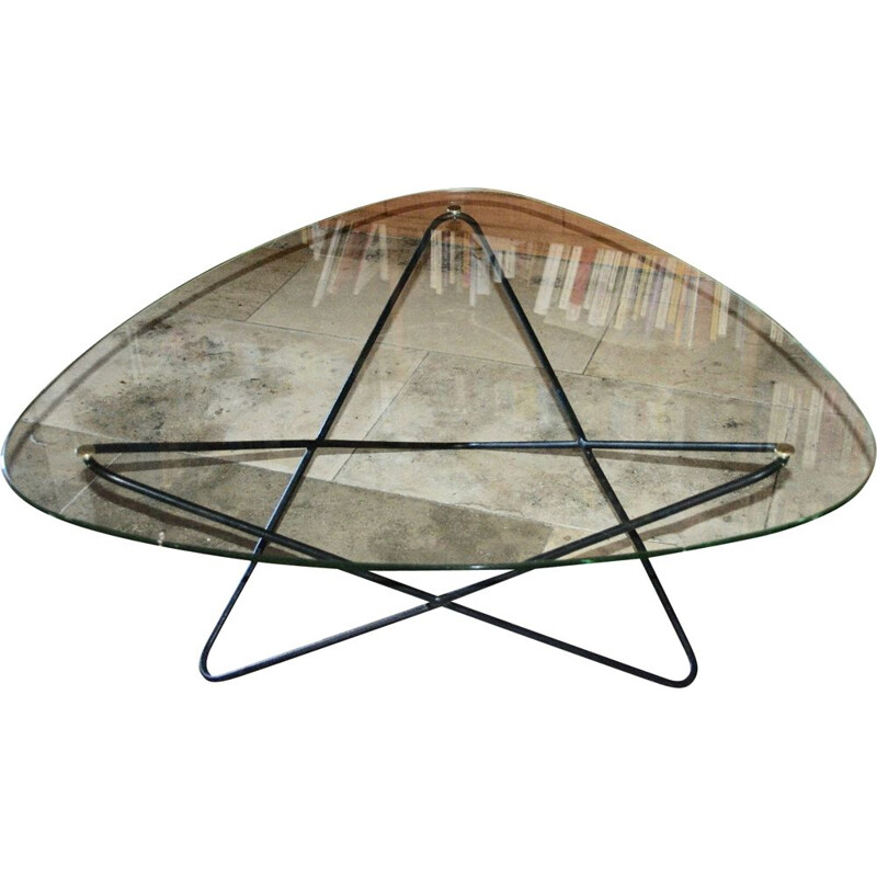 Vintage Jasmin table by Florent Lasbleiz for Airbone, 1954