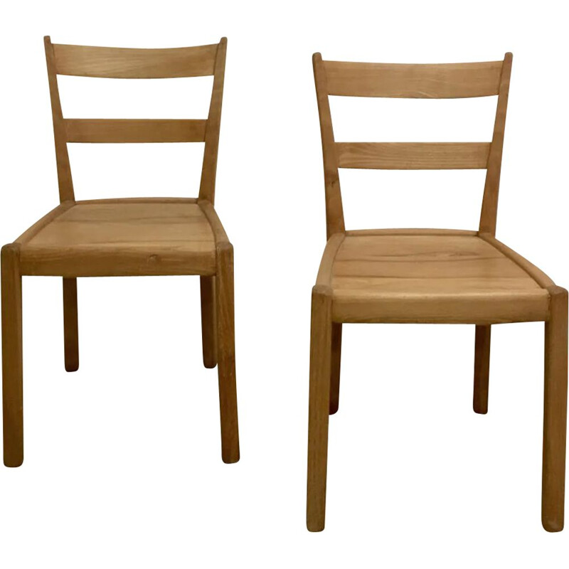 Set of 2 vintage chairs by Franz Xaver Sproll, Switzerland, 1940