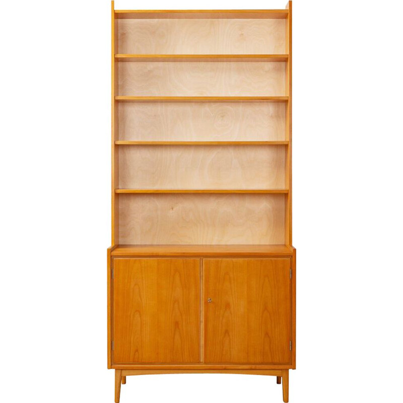 Vintage cherry bookcase, Germany, 1950s