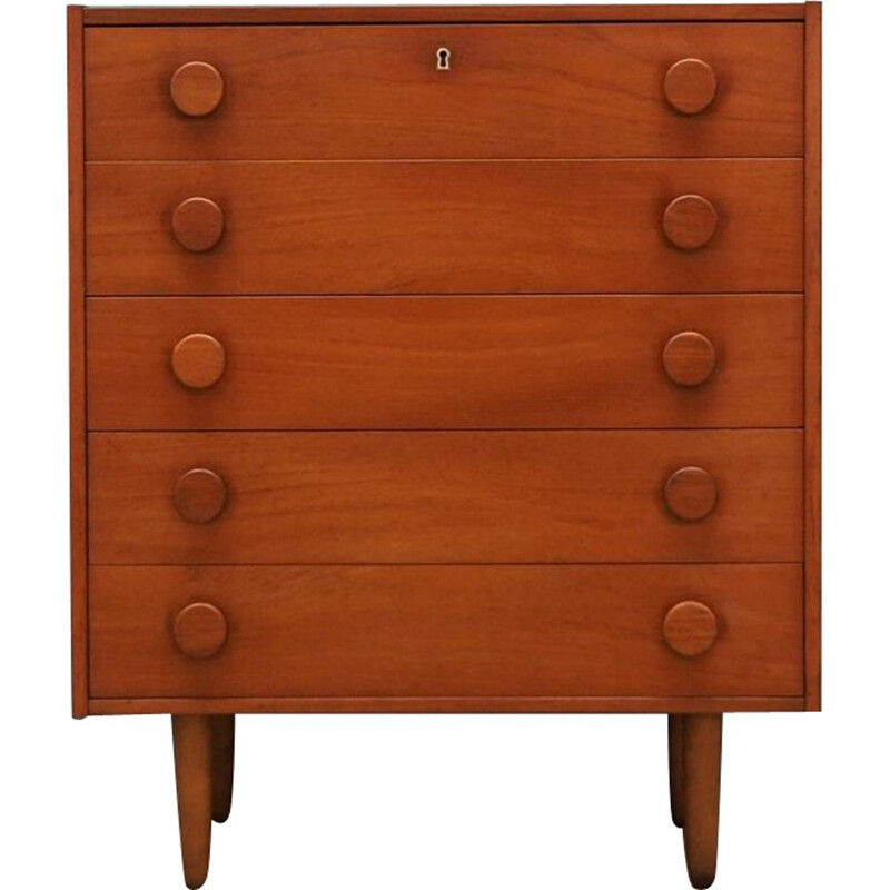 Vintage Danish teak chest of drawers 1970
