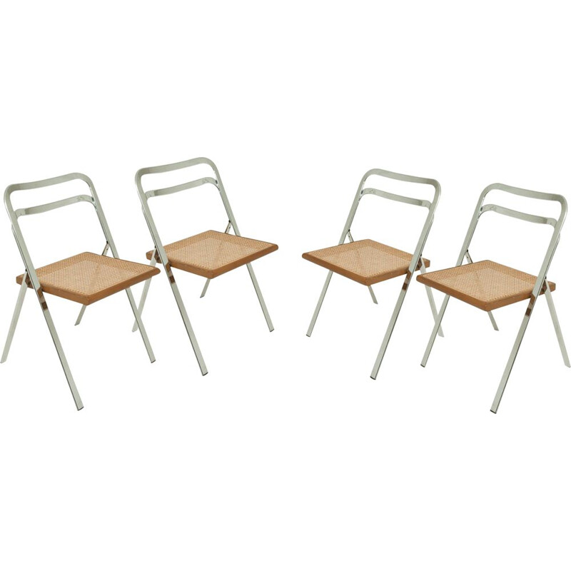 Set of 4 vintage folding chairs by Giorgio Catellan