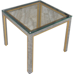 Coffee table in metal and aluminum, Willy RIZZO - 1970s