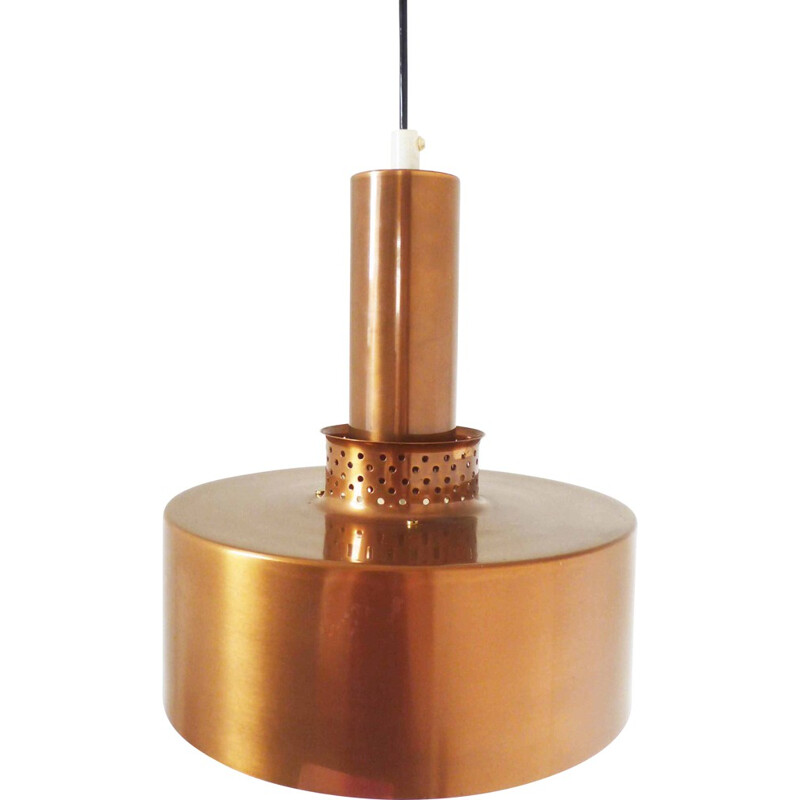 Scandinavian hanging lamp in metal, H A JAKOBSSON - 1960s
