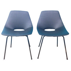 "Pair of chairs ""Barrel"" Pierre GUARICHE - 1950s"
