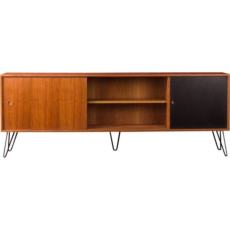 Large vintage walnut sideboard by Søborg Møbelfabrik, Germany, 1950s