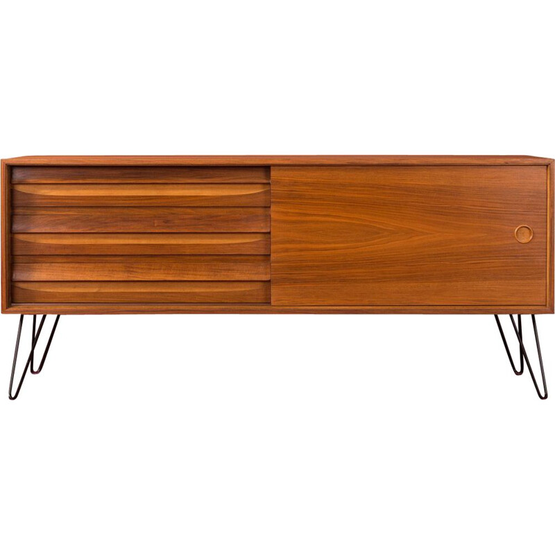 Vintage walnut sideboard, Germany, 1960