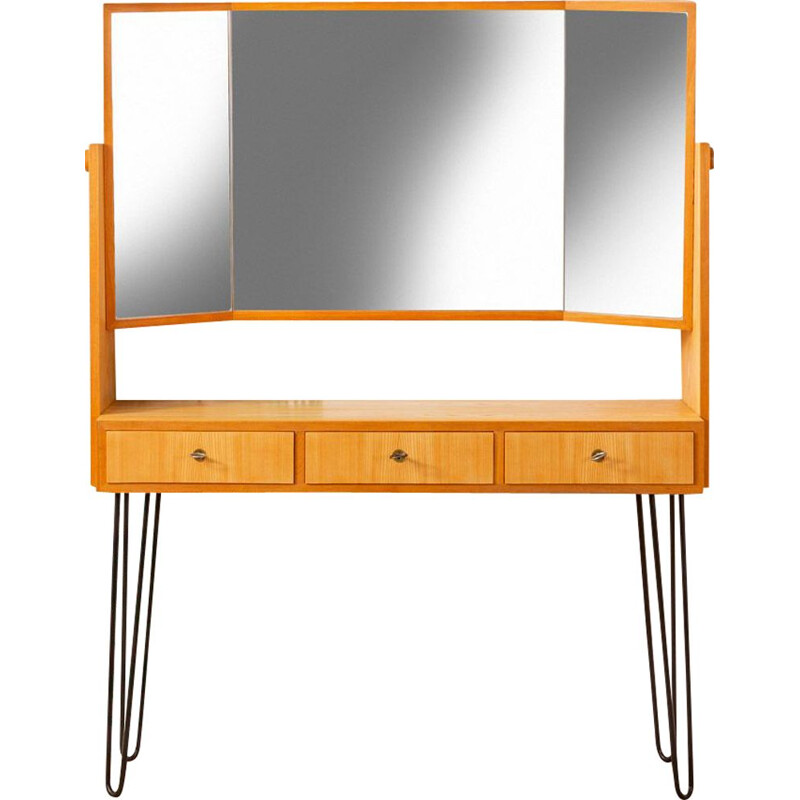 Vintage dressing table in ash veneer by WK Möbel, 1950s