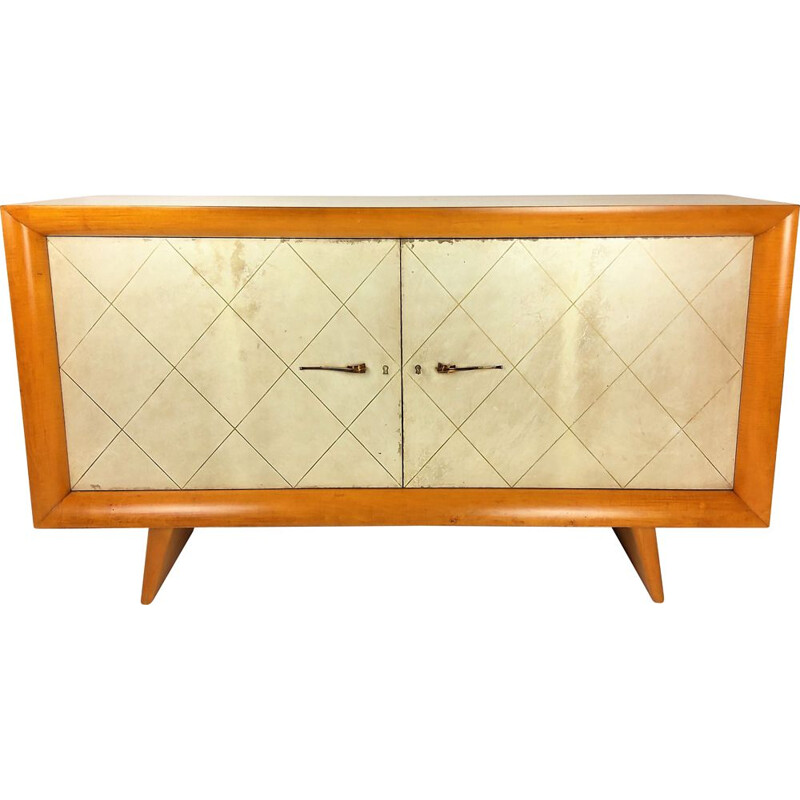 Vintage sycamore sideboard by Suzanne Guiguichon 1950