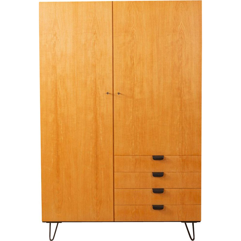 Vintage wardrobe in ash veneer, Germany, 1950s