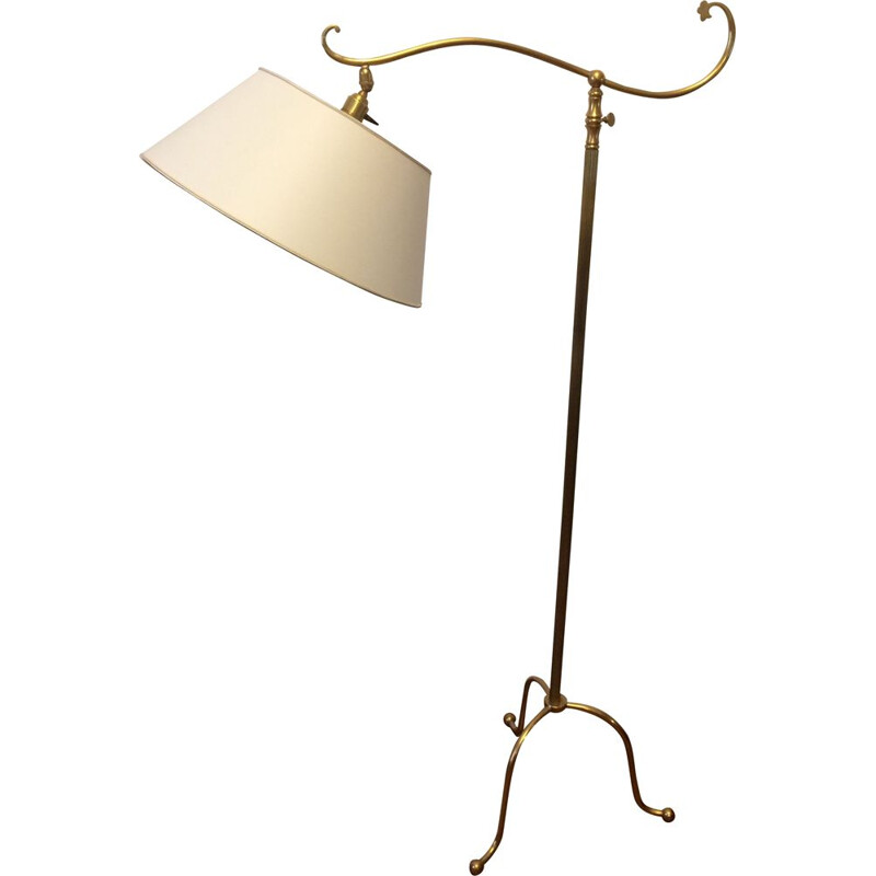 Vintage adjustable lamppost and arms deported brass 1950