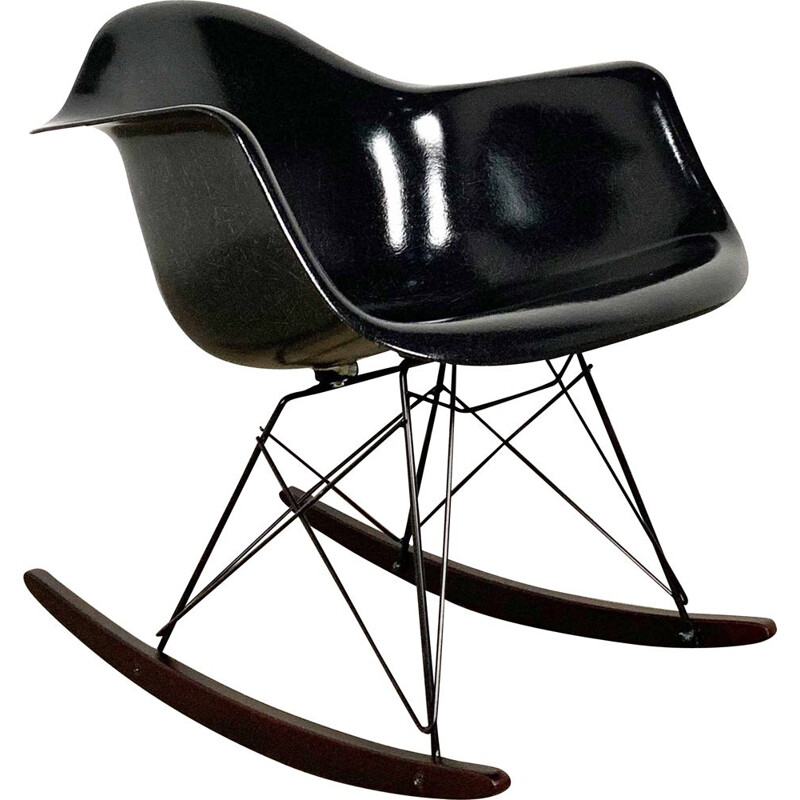 Vintage RAR fiberglass rocking chair by Charles & Ray Eames for Herman Miller, 1980s
