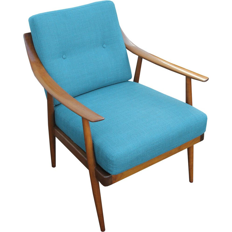 1950s armchair in cherrywood, Knoll Antimott