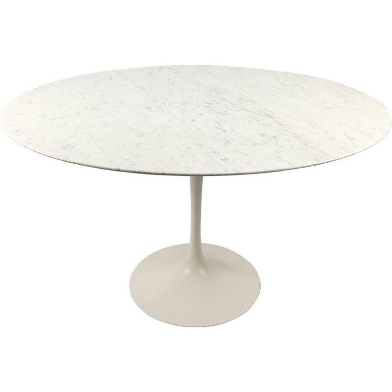 Vintage Marble Dining Table by Eero Saarinen for Knoll International 70's