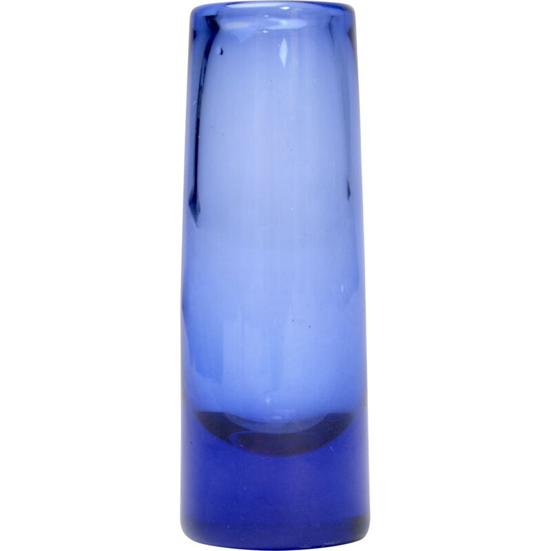 "Small blue ""Labrador"" vase by Per Lütken for Holmegaard, 1958"