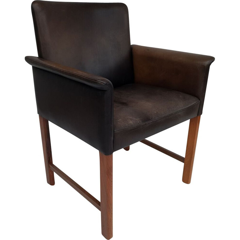Danish conference chairs by Hans Olsen, 60´s, original leather, solid rosewood