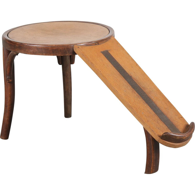 1930s Rare shoe fitting stool, manufactured by Thonet in Germany