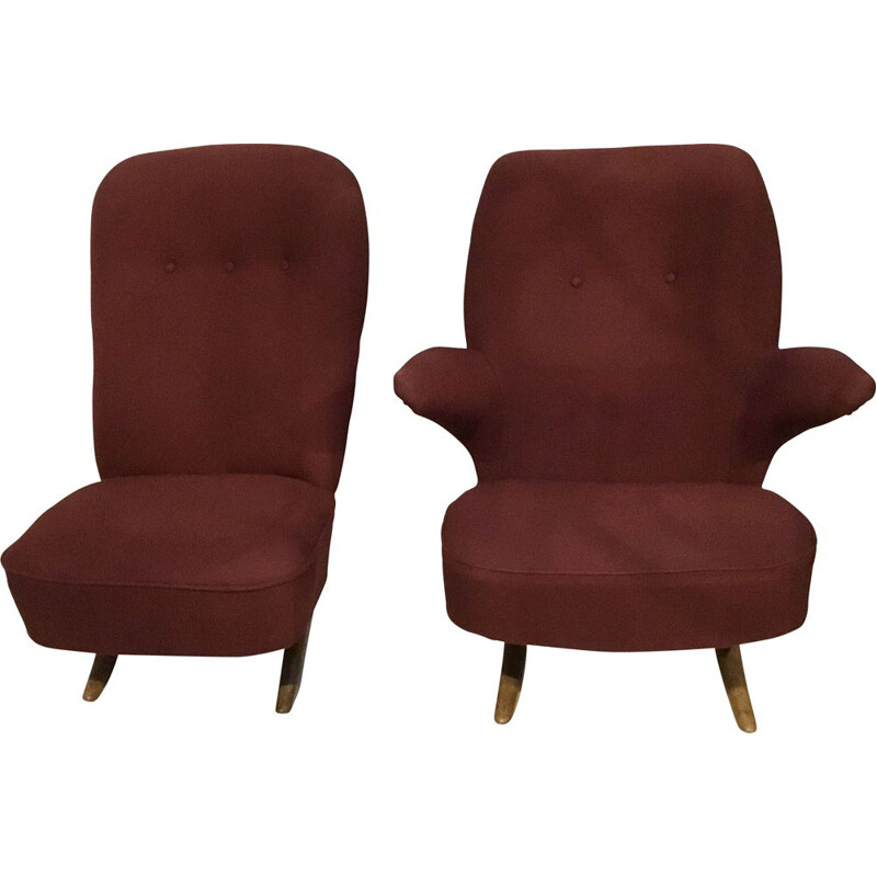 Club Chairs by Theo Ruth for Artifort, 1950s, Set of 2