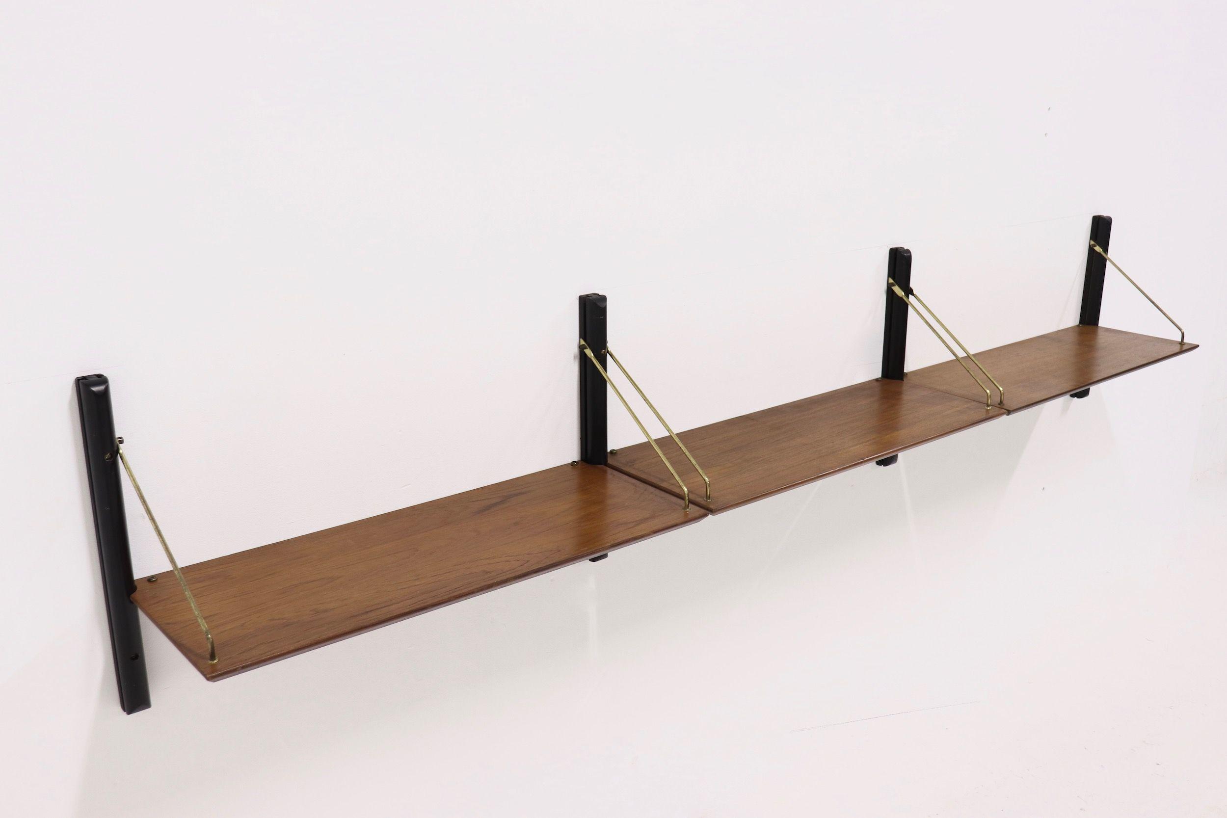 Rare Mid Century Teak Shelving Unit By Louis Van Teeffelen For Webe 1950 S