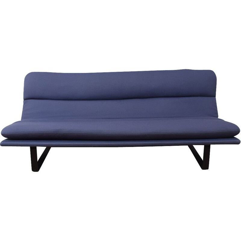 Model C683 Blue 3 seater sofa by Kho Liang Ie