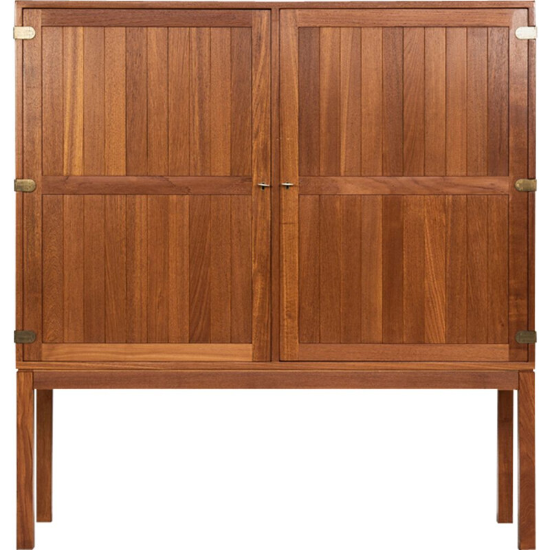 Midcentury Danish cabinet in teak and brass by Kurt Østervig 1960s