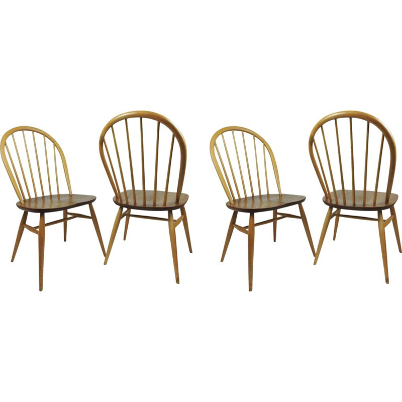Vintage Windsor Dining Chairs by Lucian Ercolani for Ercol, Set of 4