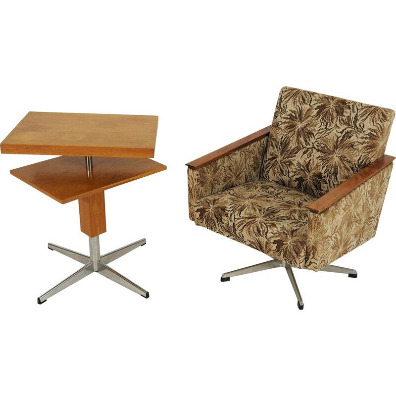 A table and armchair from the Tatra Czech production of the 1970s