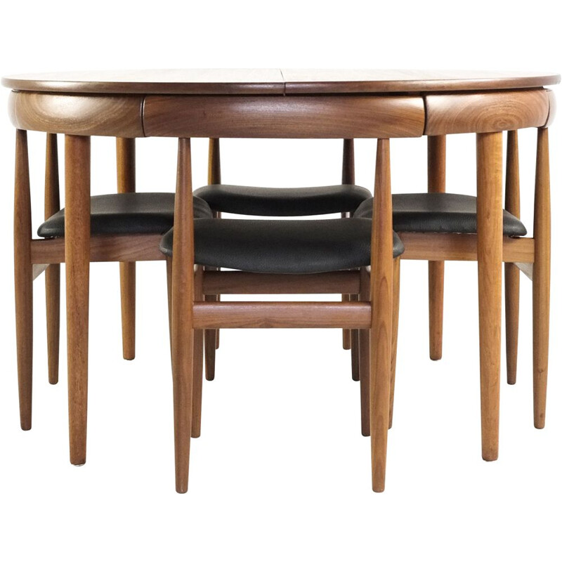 Midcentury Danish Dining set in teak by Hans Olsen for Frem Røjle