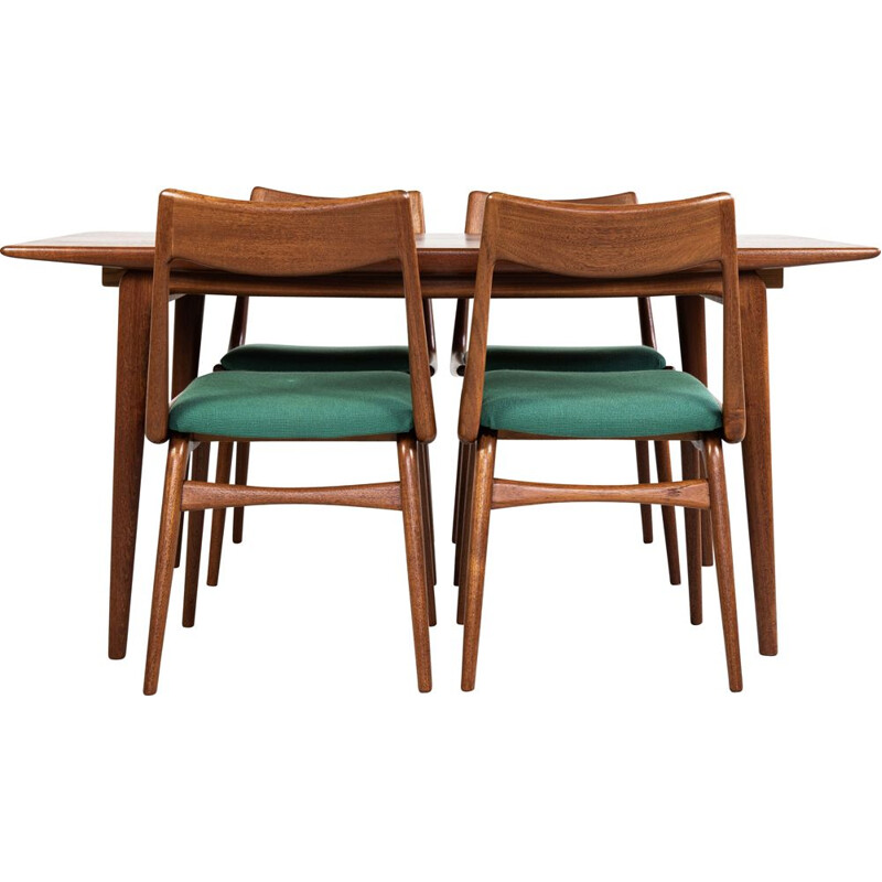 Midcentury Boomerang dining set in teak by Alfred Christensen for Slagelse