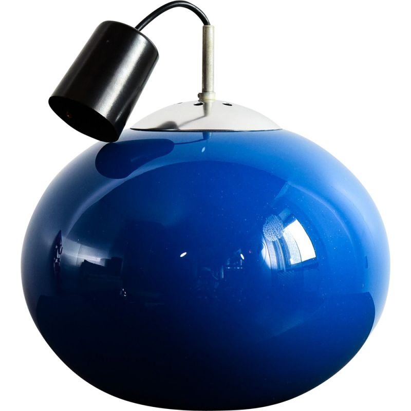 hanging lamp in blue glass