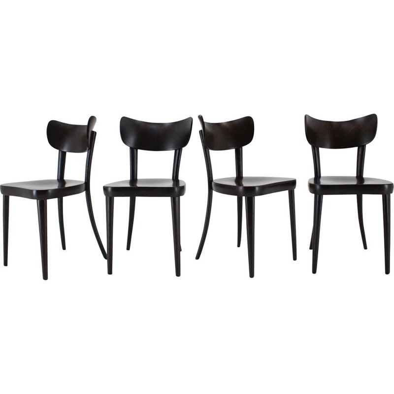 1960s ThonThonet Dining Chairs, Set of 4