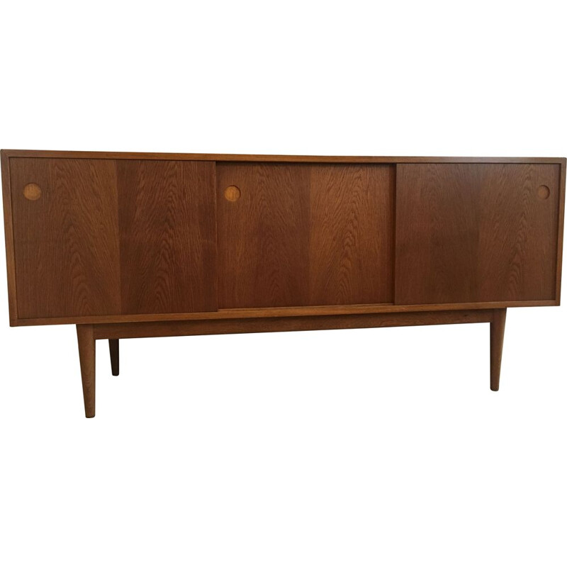 Scandinavian modern Danish sideboard - 1960  massive oak