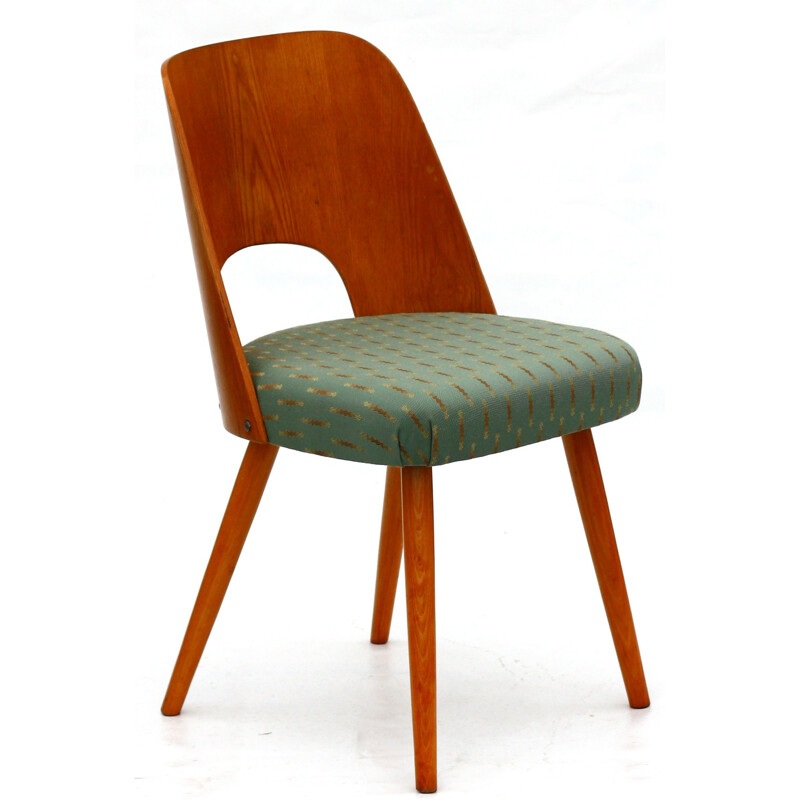 Ton wooden and fabric chair, Oswald HAERDTL - 1960s