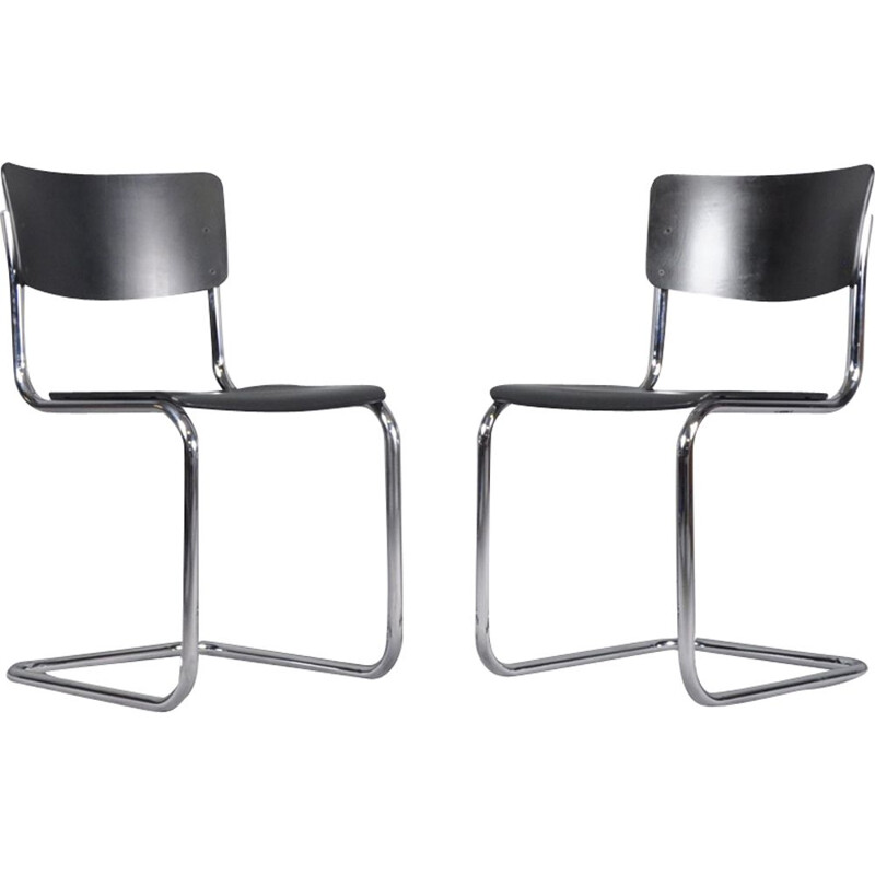 Set of 2 vintage Dining Chairs S43 by Mart Stam for Thonet, 1931s