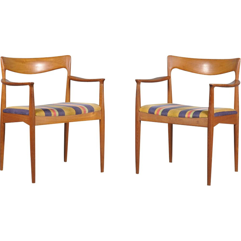 Teak Side Chairs by Arne Vodder for Vamø, 1960s,set of 2