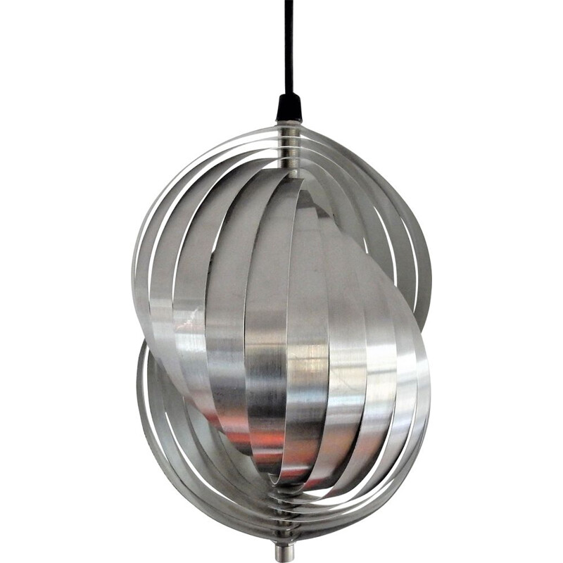 Spiral kinetics pendant lamp by Henri Mathieu, France 1960's  1970's