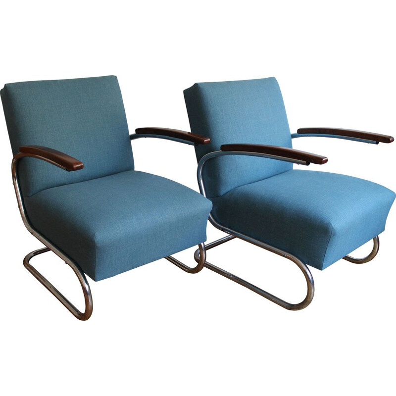 Pair of vintage armchairs by Walter Schneider and Paul Hahn