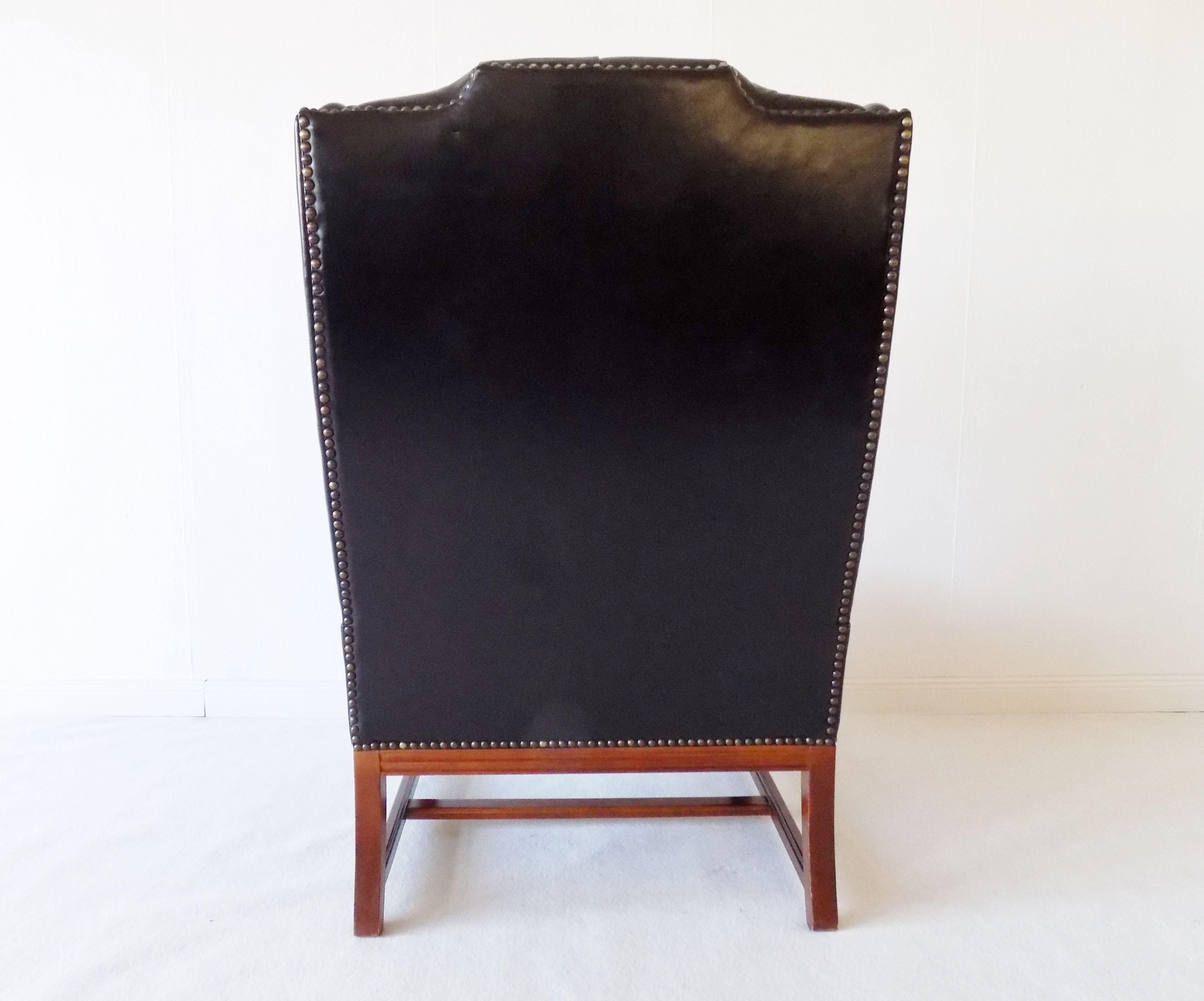 Chesterfield Highback Leatherchair Black 60s