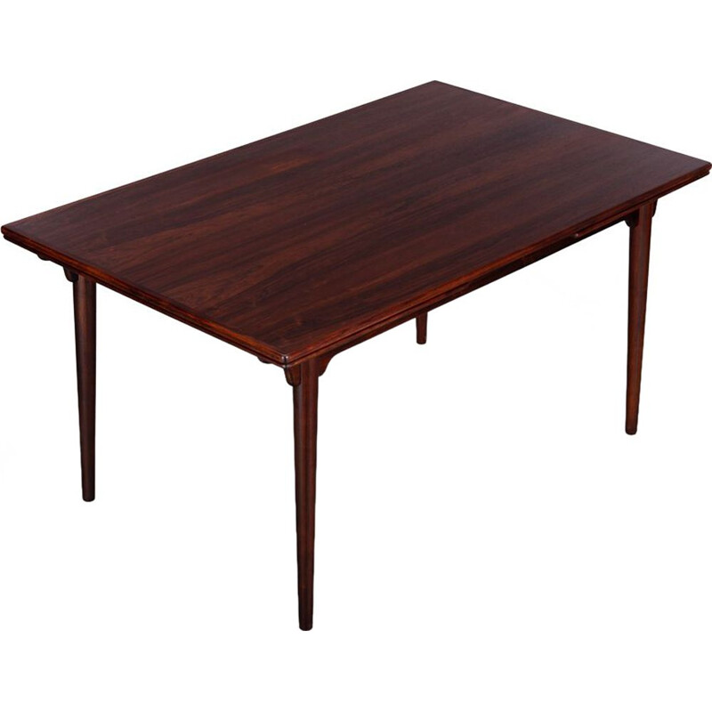 Mid-Century Danish Gunni Omann Extendable Rosewood Model 54 Dining Table for Omann Jun Møbelfabrik, 1960s