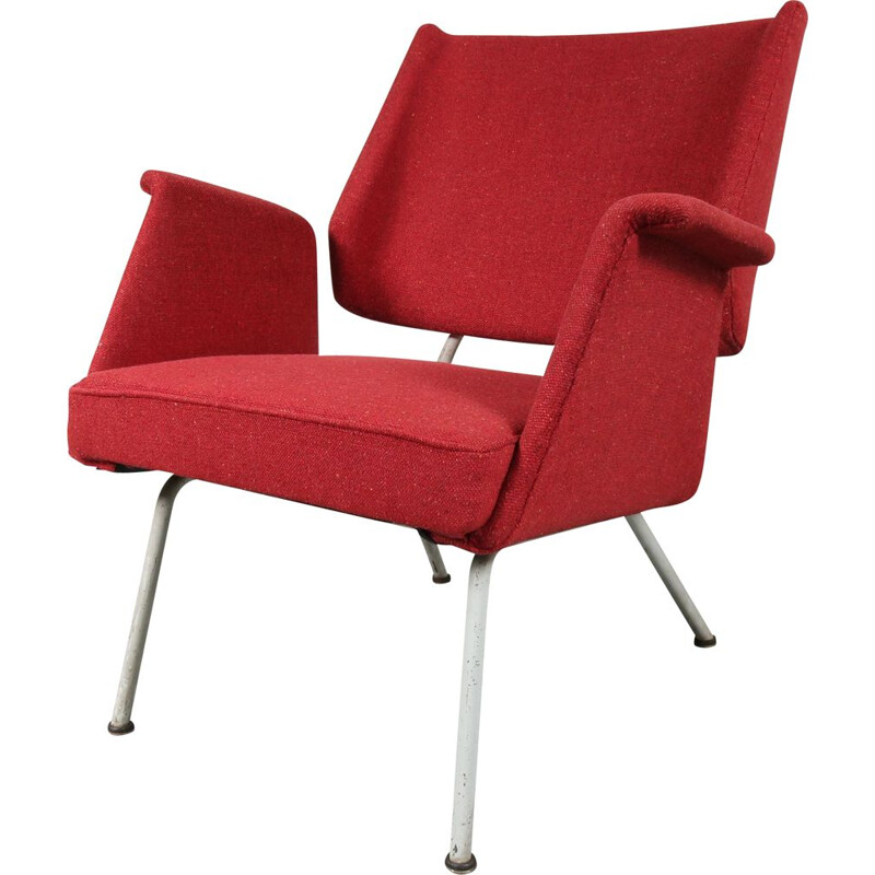 1956 Unique German lounge chair  designed by Herbert Hirche, manufactured by Walter Knoll in Germany