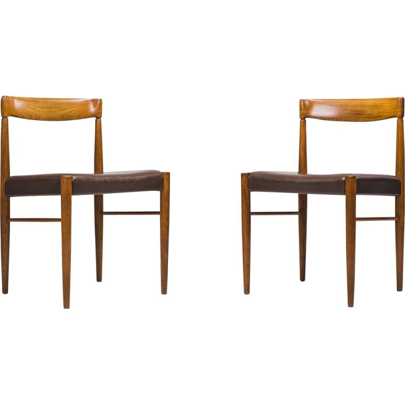 Danish Teak Dining Chairs by HW Klein for Bramin, 1960s, Set of 2