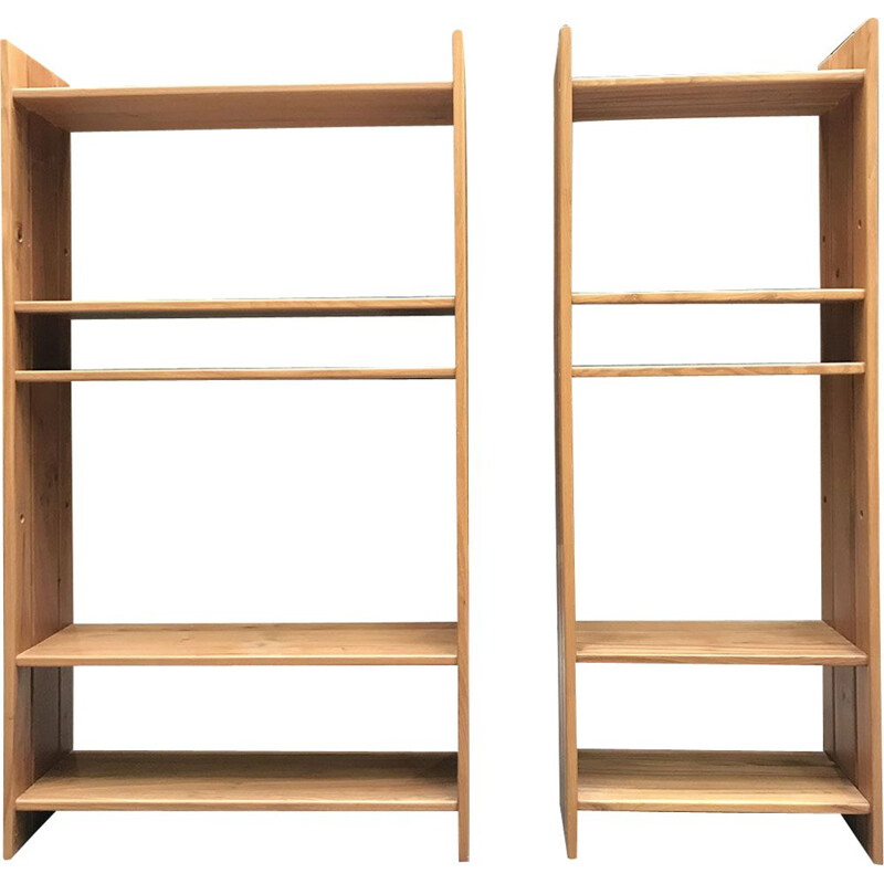 Set of 2 vintage shelves by REGAIN and Pierre CHAPO, 1974