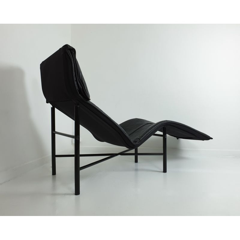 Black Leather Skye Chaise By Tord Bjorklund For Ikea C 1980 Design Market