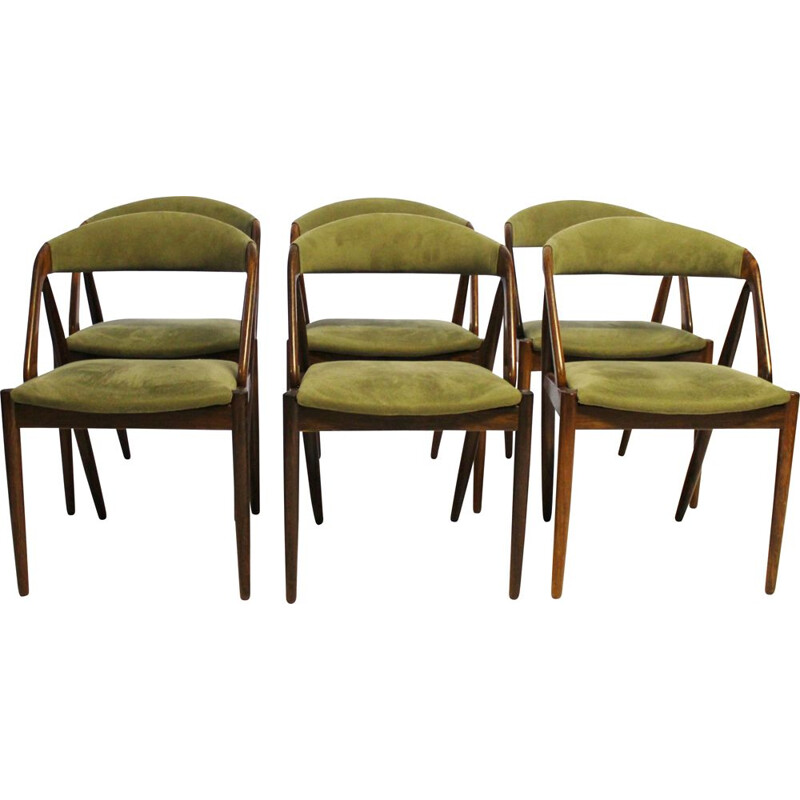 Vintage set of 6 dining chairs, model 31, by Kai Kristiansen and Schou Andersen, 1960s
