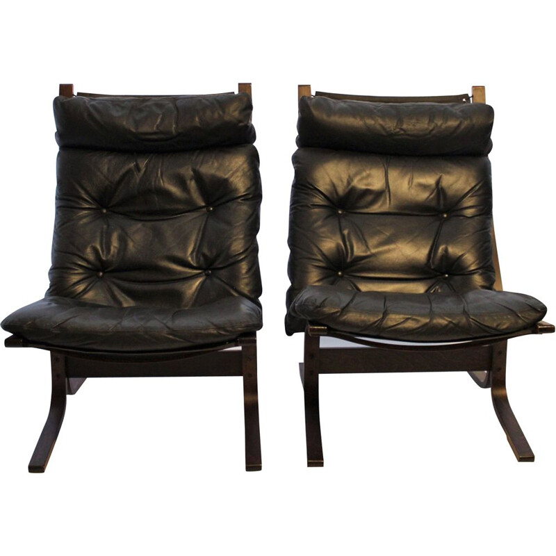 Pair of Siesta armchairs by Ingmar Relling and Westnofa, 1960s