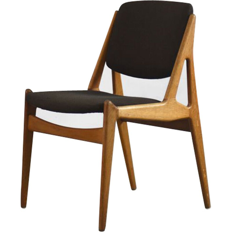 Teak danish vintage Ella Chair by Arne Vodder for Vamo Sonderborg, 1960s