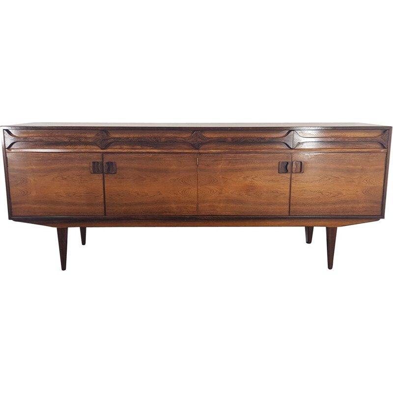 Rosewood brazilian vintage sideboard by Alfred Cox, 1960s