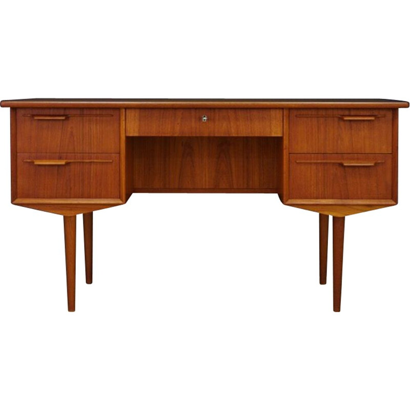 Vintage Retro Teak Writing Desk, Denmark, 1960-70s
