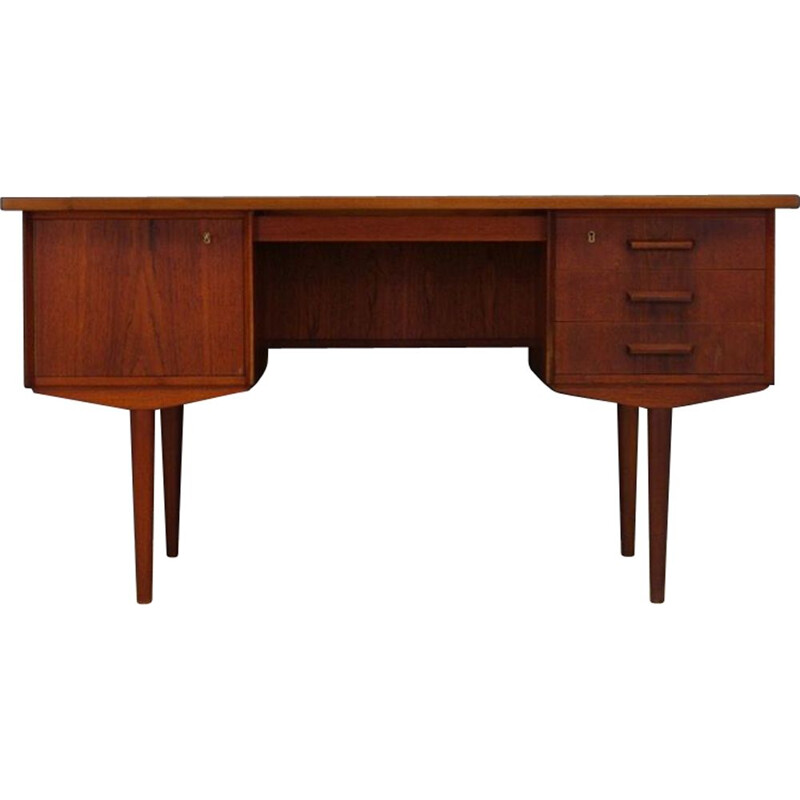 Vintage Scandinavian Design Writing Desk Teak 1970