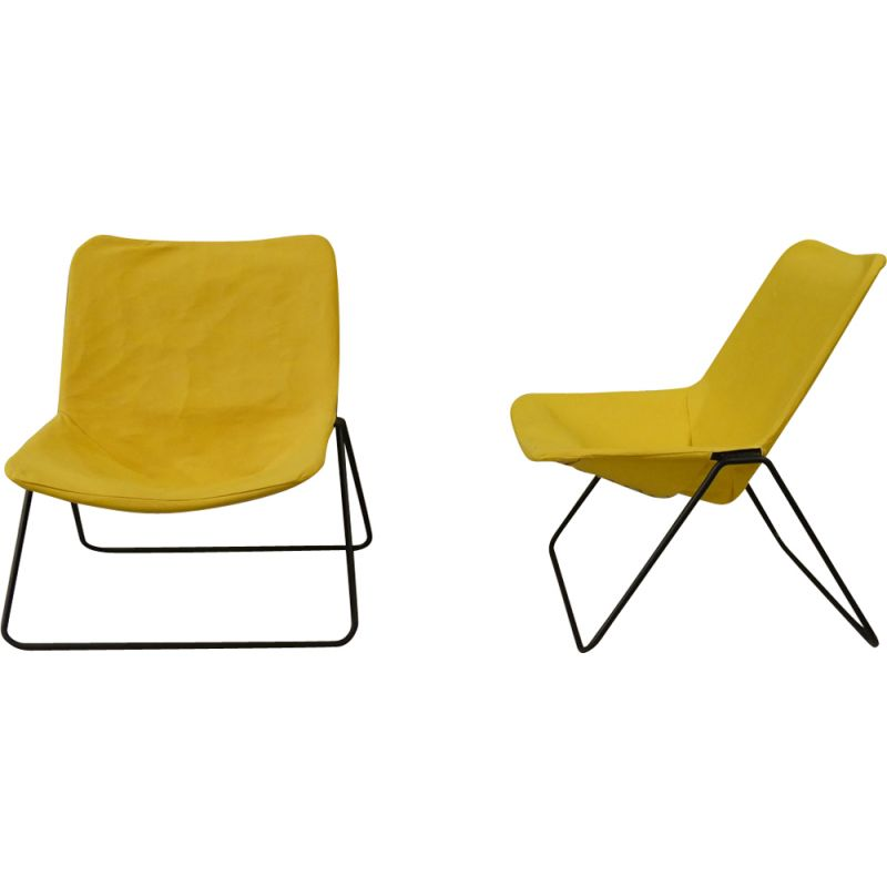 Pair of vintage G1 armchairs by Pierre Guariche for Airborne, France, 1953