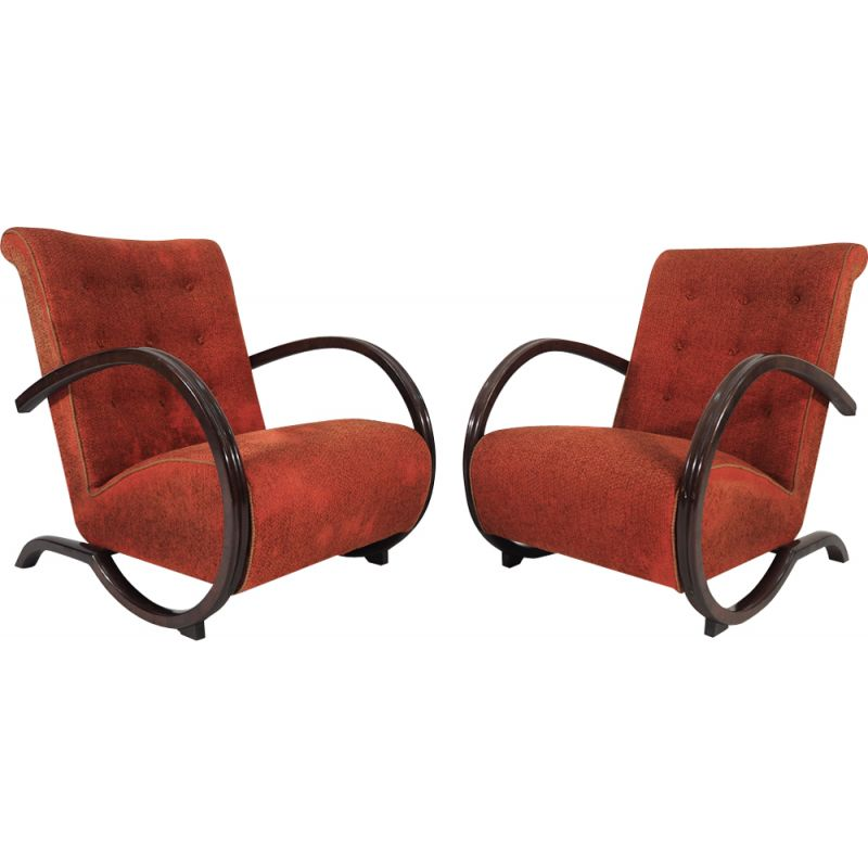 Set of 2 Art Deco Lounge Chairs, 1940